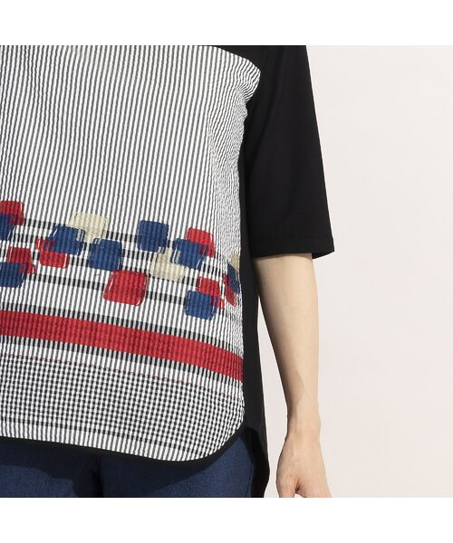 LOBJIE / ロブジェ カットソー | カットジャガード×コットン天竺Tシャツ | 詳細11