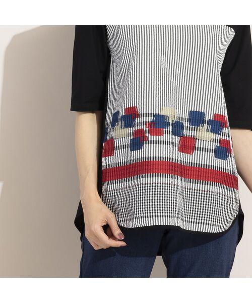 LOBJIE / ロブジェ カットソー | カットジャガード×コットン天竺Tシャツ | 詳細12