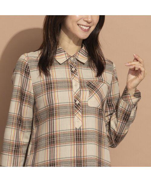 LOBJIE / ロブジェ シャツ・ブラウス   モール糸ミックスカラーチェックシャツ   詳細4