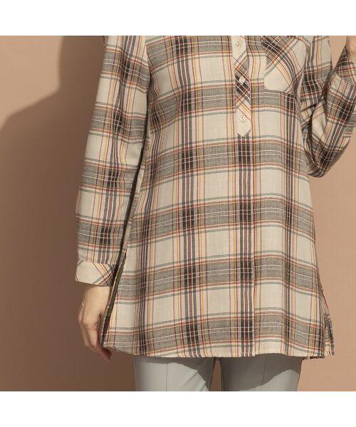 LOBJIE / ロブジェ シャツ・ブラウス   モール糸ミックスカラーチェックシャツ   詳細6