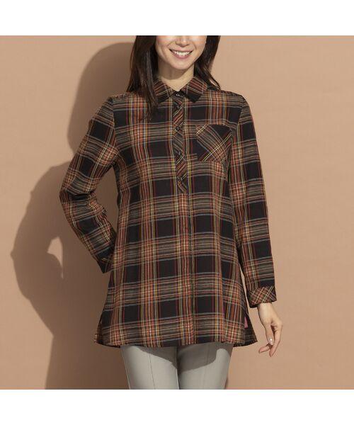 LOBJIE / ロブジェ シャツ・ブラウス   モール糸ミックスカラーチェックシャツ   詳細9