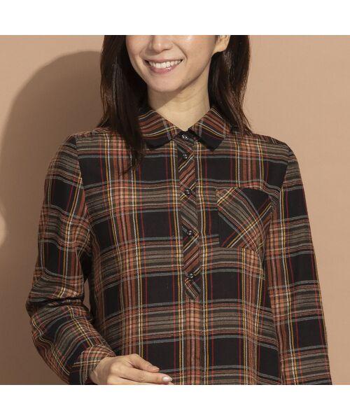 LOBJIE / ロブジェ シャツ・ブラウス   モール糸ミックスカラーチェックシャツ   詳細12