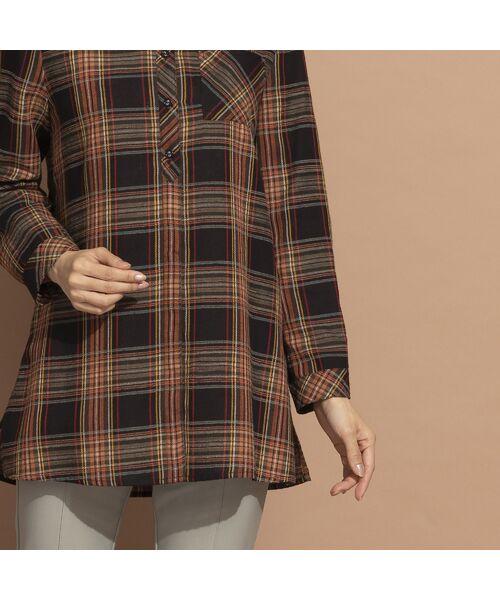 LOBJIE / ロブジェ シャツ・ブラウス   モール糸ミックスカラーチェックシャツ   詳細13