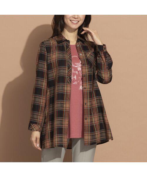 LOBJIE / ロブジェ シャツ・ブラウス   モール糸ミックスカラーチェックシャツ   詳細15