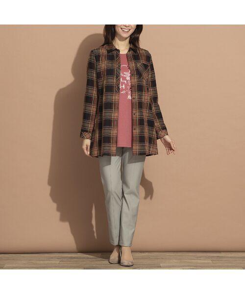 LOBJIE / ロブジェ シャツ・ブラウス   モール糸ミックスカラーチェックシャツ   詳細16