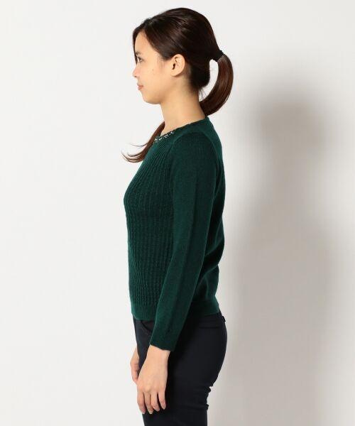 L size ONWARD(大きいサイズ) / エルサイズオンワード ニット・セーター | タムヤーンビジューニット | 詳細1