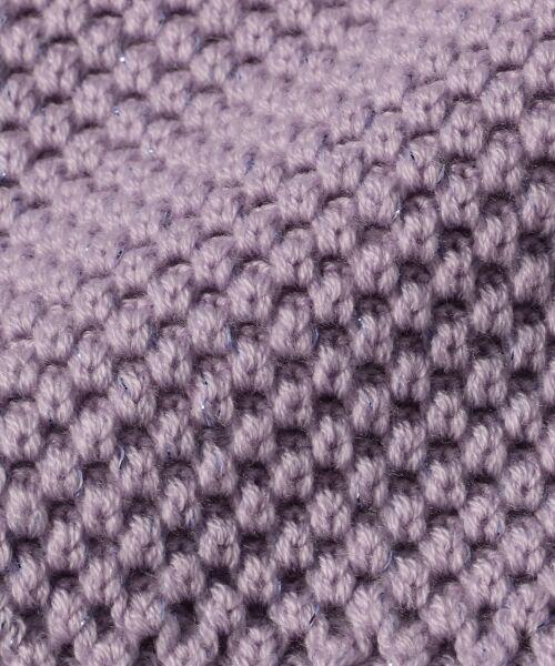 L size ONWARD(大きいサイズ) / エルサイズオンワード ニット・セーター   【WEB限定カラー有】ラメパターンコンビニット   詳細1