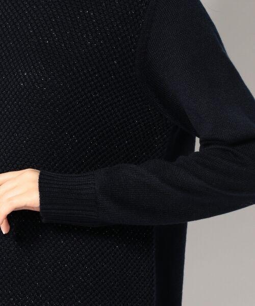 L size ONWARD(大きいサイズ) / エルサイズオンワード ニット・セーター   【WEB限定カラー有】ラメパターンコンビニット   詳細5