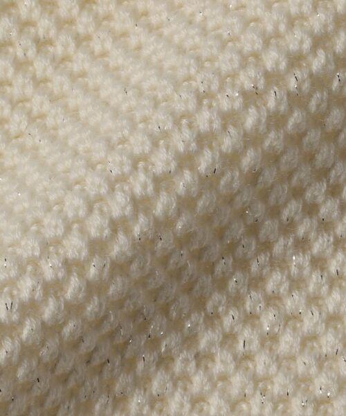L size ONWARD(大きいサイズ) / エルサイズオンワード ニット・セーター   【WEB限定カラー有】ラメパターンコンビニット   詳細7