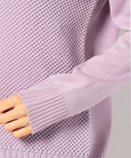 L size ONWARD(大きいサイズ) / エルサイズオンワード ニット・セーター   【WEB限定カラー有】ラメパターンコンビニット   詳細19