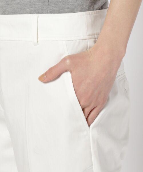 L size ONWARD(大きいサイズ) / エルサイズオンワード その他パンツ | 【洗える!&定番】60/-サテンストレッチ クロップドパンツ | 詳細5