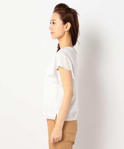 L size ONWARD(大きいサイズ) / エルサイズオンワード Tシャツ | 【洗える】シフォンレースコンビ カットソー | 詳細7