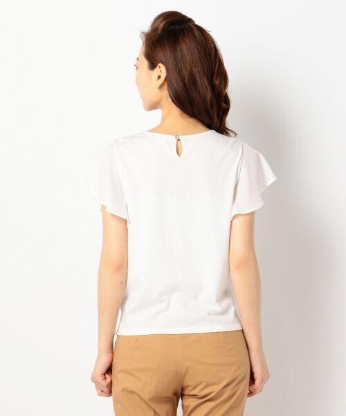 L size ONWARD(大きいサイズ) / エルサイズオンワード Tシャツ | 【洗える】シフォンレースコンビ カットソー | 詳細8