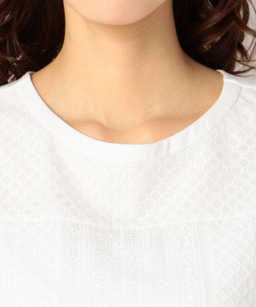 L size ONWARD(大きいサイズ) / エルサイズオンワード Tシャツ | 【洗える】シフォンレースコンビ カットソー | 詳細11