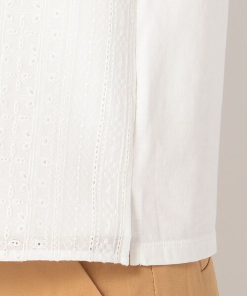 L size ONWARD(大きいサイズ) / エルサイズオンワード Tシャツ | 【洗える】シフォンレースコンビ カットソー | 詳細13