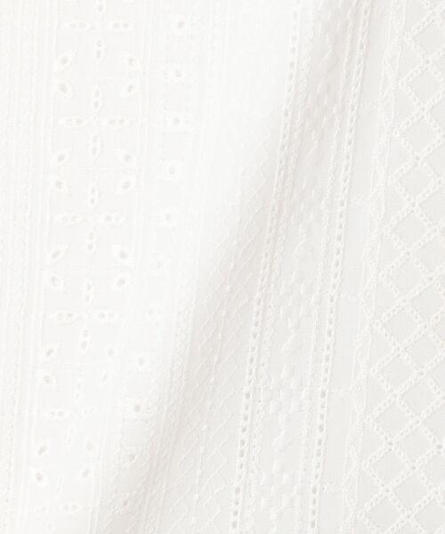 L size ONWARD(大きいサイズ) / エルサイズオンワード Tシャツ | 【洗える】シフォンレースコンビ カットソー | 詳細14