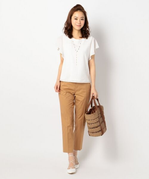 L size ONWARD(大きいサイズ) / エルサイズオンワード Tシャツ | 【洗える】シフォンレースコンビ カットソー | 詳細16
