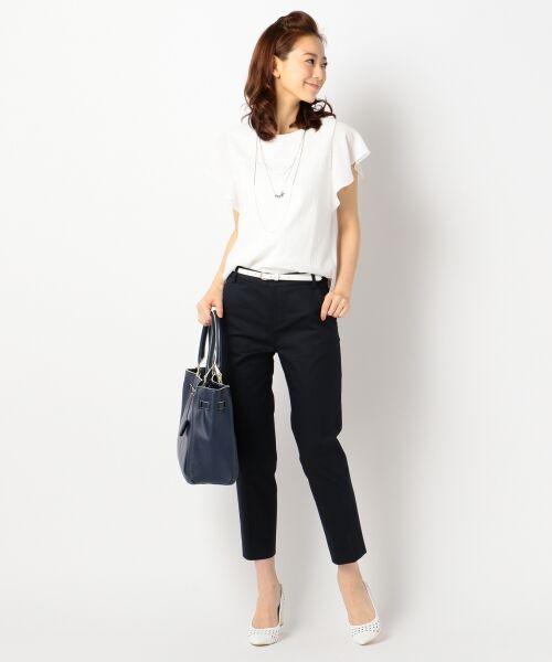 L size ONWARD(大きいサイズ) / エルサイズオンワード Tシャツ | 【洗える】シフォンレースコンビ カットソー | 詳細5