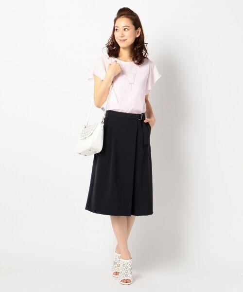 L size ONWARD(大きいサイズ) / エルサイズオンワード Tシャツ | 【洗える】シフォンレースコンビ カットソー | 詳細18