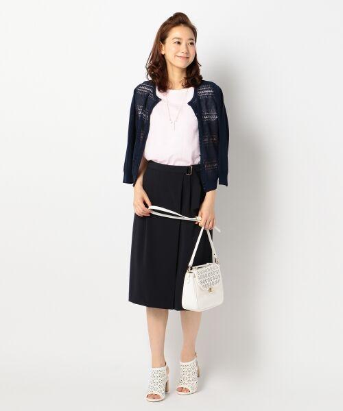 L size ONWARD(大きいサイズ) / エルサイズオンワード Tシャツ | 【洗える】シフォンレースコンビ カットソー | 詳細20