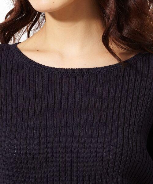 L size ONWARD(大きいサイズ) / エルサイズオンワード ニット・セーター | 【洗える!】ギマコットン フレアスリーブニット | 詳細17
