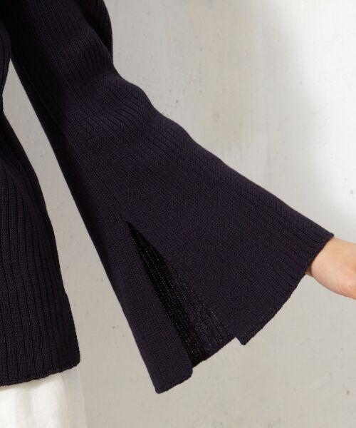 L size ONWARD(大きいサイズ) / エルサイズオンワード ニット・セーター | 【洗える!】ギマコットン フレアスリーブニット | 詳細18