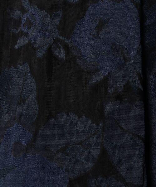 L size ONWARD(大きいサイズ) / エルサイズオンワード ミニ丈・ひざ丈ワンピース   フラワージャガード ワンピース   詳細5