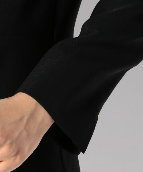 L size ONWARD(大きいサイズ) / エルサイズオンワード ノーカラージャケット | 【セットアップ対応】リラクションツイル ノーカラージャケット | 詳細10