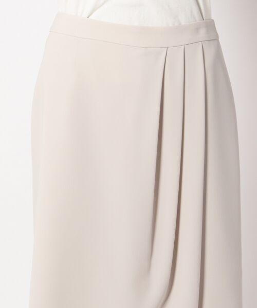 L size ONWARD(大きいサイズ) / エルサイズオンワード ミニ・ひざ丈スカート | 【セットアップ対応】リラクションツイル ラップスカート | 詳細7
