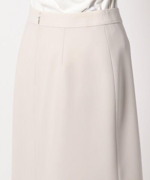 L size ONWARD(大きいサイズ) / エルサイズオンワード ミニ・ひざ丈スカート | 【セットアップ対応】リラクションツイル ラップスカート | 詳細8