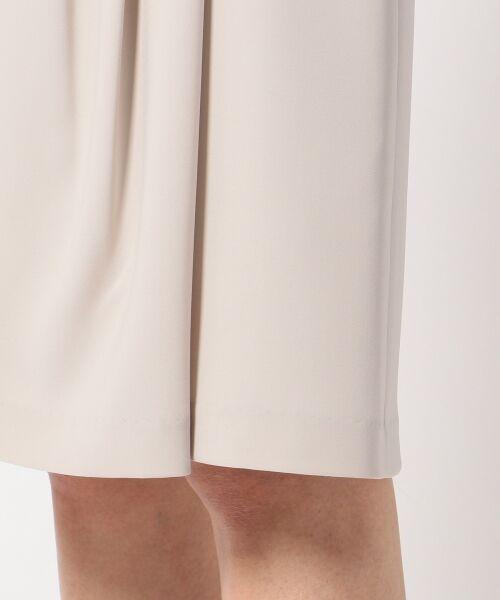 L size ONWARD(大きいサイズ) / エルサイズオンワード ミニ・ひざ丈スカート | 【セットアップ対応】リラクションツイル ラップスカート | 詳細9