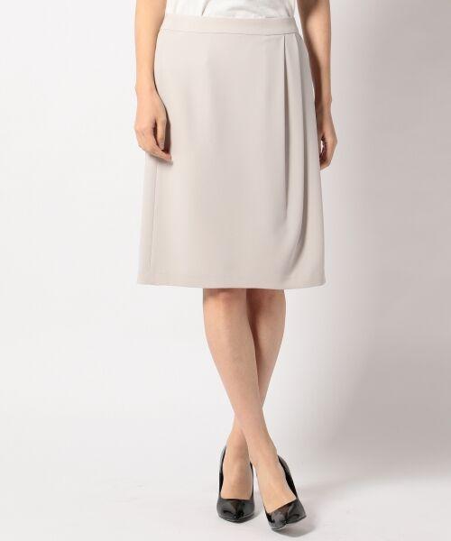 L size ONWARD(大きいサイズ) / エルサイズオンワード ミニ・ひざ丈スカート | 【セットアップ対応】リラクションツイル ラップスカート | 詳細2