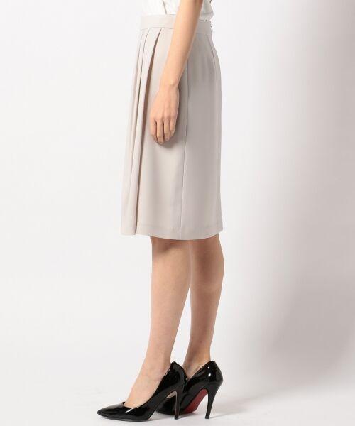 L size ONWARD(大きいサイズ) / エルサイズオンワード ミニ・ひざ丈スカート | 【セットアップ対応】リラクションツイル ラップスカート | 詳細3