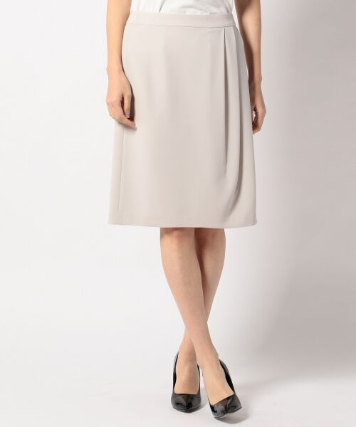 L size ONWARD(大きいサイズ) / エルサイズオンワード ミニ・ひざ丈スカート | 【セットアップ対応】リラクションツイル ラップスカート | 詳細4