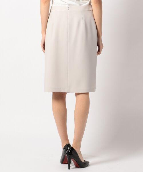 L size ONWARD(大きいサイズ) / エルサイズオンワード ミニ・ひざ丈スカート | 【セットアップ対応】リラクションツイル ラップスカート | 詳細6