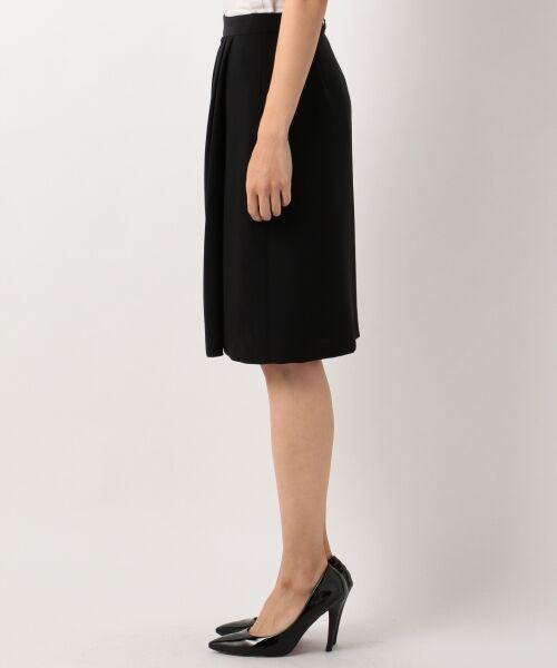 L size ONWARD(大きいサイズ) / エルサイズオンワード ミニ・ひざ丈スカート | 【セットアップ対応】リラクションツイル ラップスカート | 詳細15