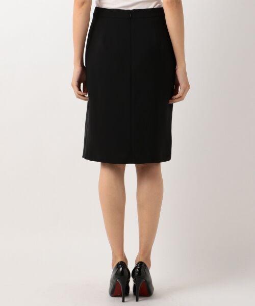 L size ONWARD(大きいサイズ) / エルサイズオンワード ミニ・ひざ丈スカート | 【セットアップ対応】リラクションツイル ラップスカート | 詳細16