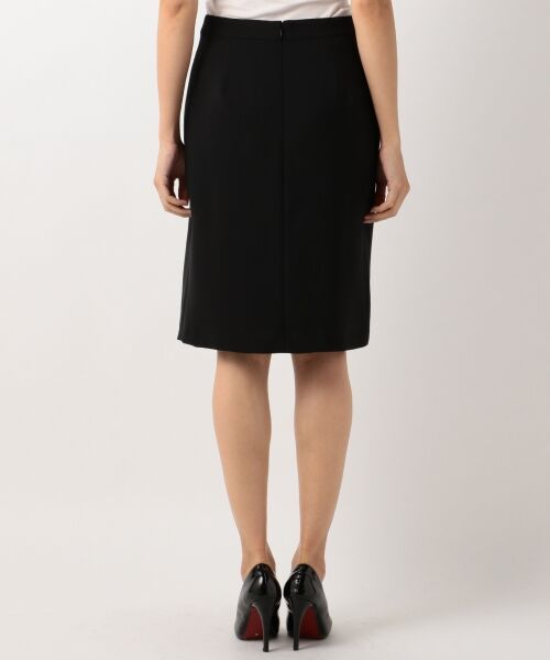 L size ONWARD(大きいサイズ) / エルサイズオンワード ミニ・ひざ丈スカート | 【セットアップ対応】リラクションツイル ラップスカート | 詳細18