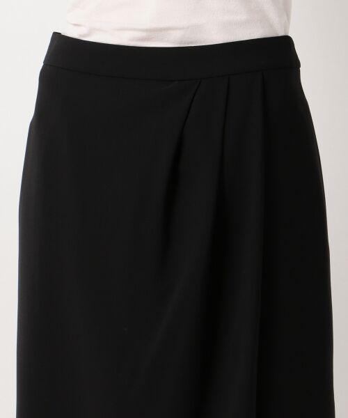 L size ONWARD(大きいサイズ) / エルサイズオンワード ミニ・ひざ丈スカート | 【セットアップ対応】リラクションツイル ラップスカート | 詳細19