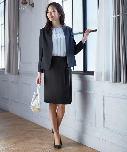 L size ONWARD(大きいサイズ) / エルサイズオンワード ミニ・ひざ丈スカート | 【セットアップ対応】リラクションツイル ラップスカート | 詳細12