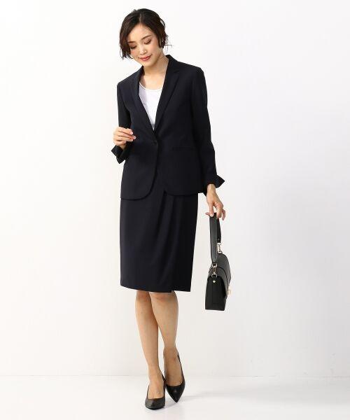 L size ONWARD(大きいサイズ) / エルサイズオンワード ミニ・ひざ丈スカート | 【セットアップ対応】リラクションツイル ラップスカート | 詳細25