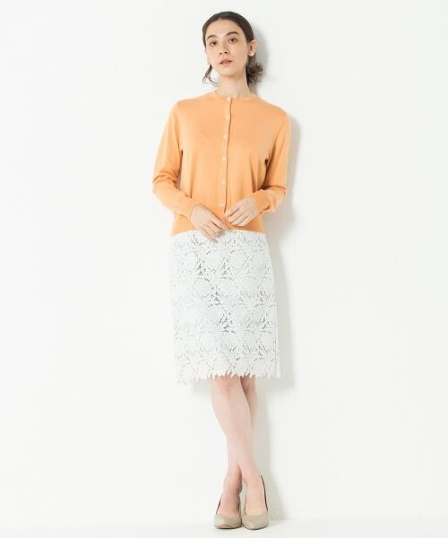 L size ONWARD(大きいサイズ) / エルサイズオンワード ミニ・ひざ丈スカート | 【洗える】シック クラフトレース スカート | 詳細2