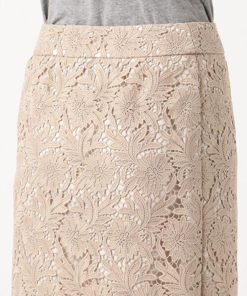 L size ONWARD(大きいサイズ) / エルサイズオンワード ミニ・ひざ丈スカート | 【洗える】シック クラフトレース スカート | 詳細11