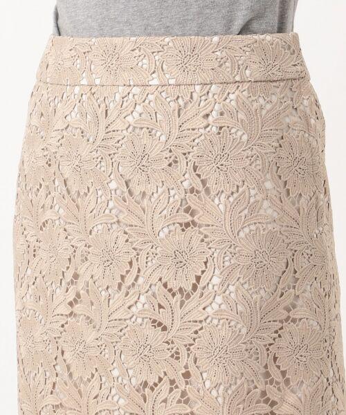 L size ONWARD(大きいサイズ) / エルサイズオンワード ミニ・ひざ丈スカート | 【洗える】シック クラフトレース スカート | 詳細10