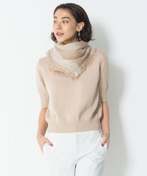 L size ONWARD(大きいサイズ) / エルサイズオンワード ニット・セーター | 【マガジン掲載】CO/SI バルキー ニット(検索番号F55)(ベージュ系)