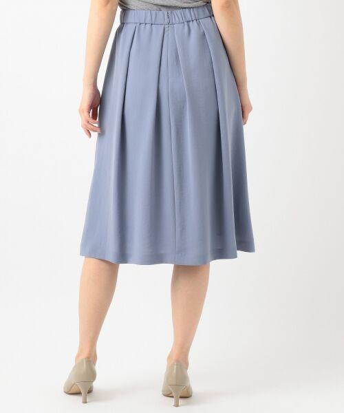 L size ONWARD(大きいサイズ) / エルサイズオンワード ミニ・ひざ丈スカート | 【洗える】パウダーポリ スカート | 詳細9