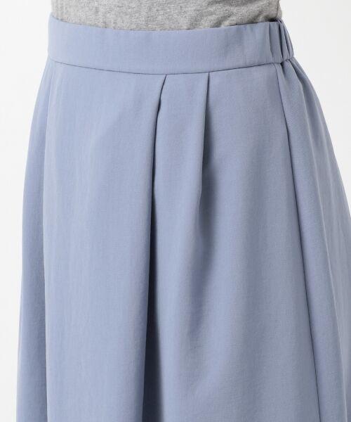 L size ONWARD(大きいサイズ) / エルサイズオンワード ミニ・ひざ丈スカート | 【洗える】パウダーポリ スカート | 詳細10
