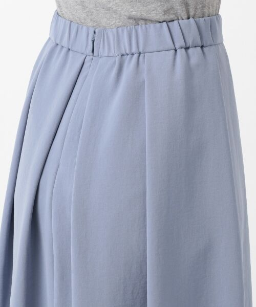 L size ONWARD(大きいサイズ) / エルサイズオンワード ミニ・ひざ丈スカート | 【洗える】パウダーポリ スカート | 詳細11