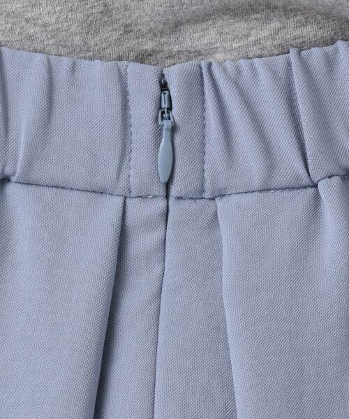 L size ONWARD(大きいサイズ) / エルサイズオンワード ミニ・ひざ丈スカート | 【洗える】パウダーポリ スカート | 詳細12