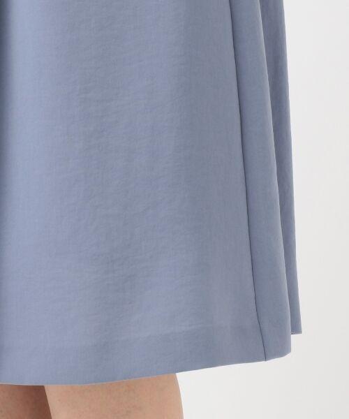 L size ONWARD(大きいサイズ) / エルサイズオンワード ミニ・ひざ丈スカート | 【洗える】パウダーポリ スカート | 詳細13